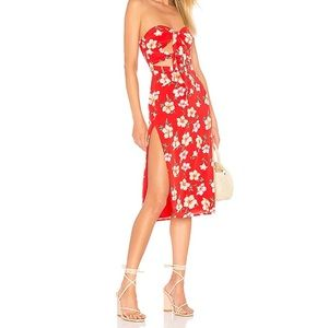Majorelle Cookie Dress in Fruit Punch Red Floral